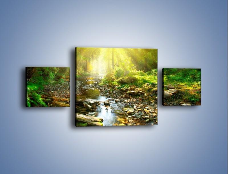 Obraz na płótnie – Kamiennym urwiskiem wśród potoku – trzyczęściowy KN827W4