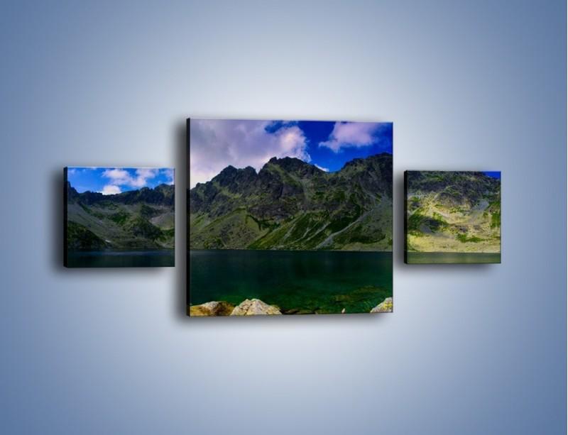 Obraz na płótnie – Horyzont górskich szczytów – trzyczęściowy KN856W4