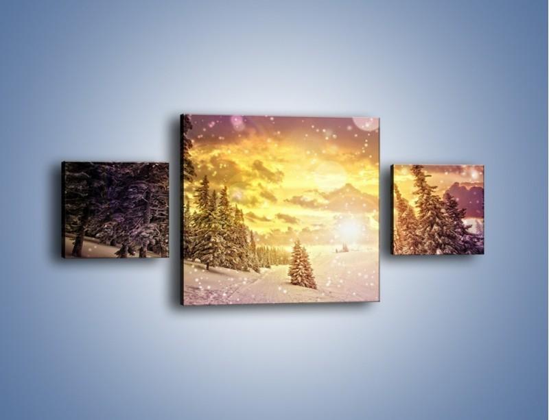 Obraz na płótnie – Śnieżna kraina – trzyczęściowy KN868W4