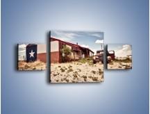 Obraz na płótnie – Autem przez texas – trzyczęściowy KN874W4