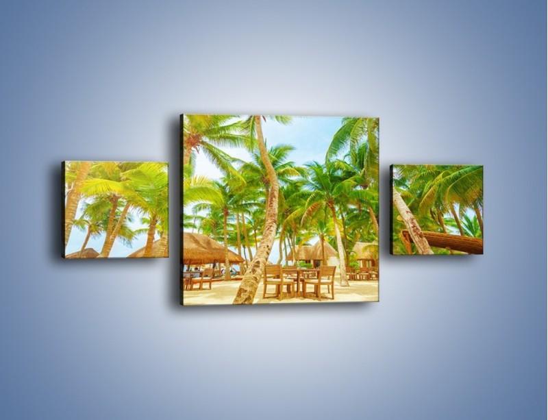 Obraz na płótnie – Słoneczna sjesta pod palmami – trzyczęściowy KN886W4
