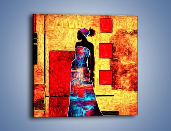 Obraz na płótnie – Kolory rozpalonej afryki – jednoczęściowy kwadratowy GR636