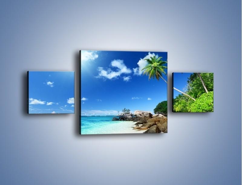 Obraz na płótnie – Rajska plaża i jej piękno – trzyczęściowy KN963W4
