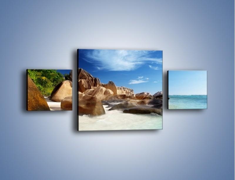 Obraz na płótnie – Niewyobrażalny błękit oceanu – trzyczęściowy KN986W4