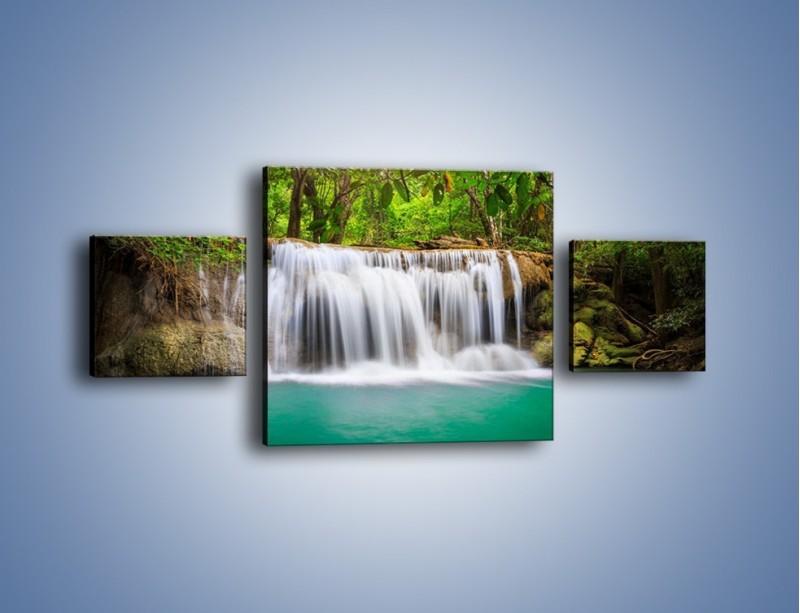 Obraz na płótnie – Kąpiel w środku lasu – trzyczęściowy KN995W4