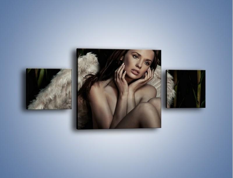 Obraz na płótnie – Anioł i jego tęsknota – trzyczęściowy L011W4