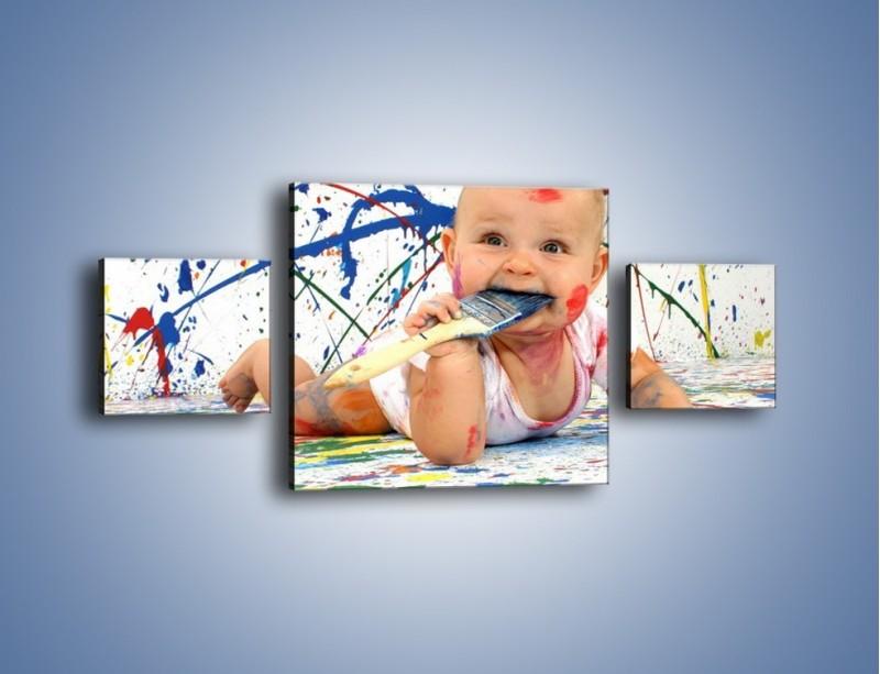 Obraz na płótnie – Chodź pomaluj mój świat – trzyczęściowy L059W4