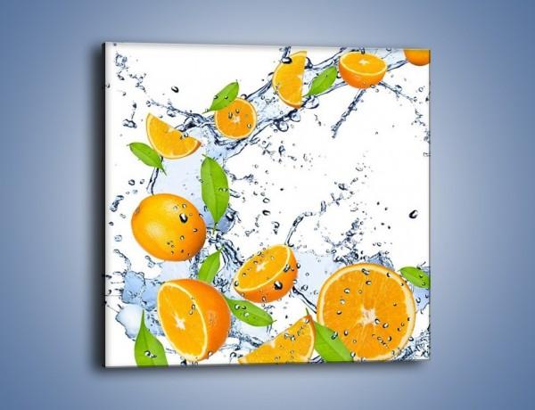 Obraz na płótnie – Orzeźwiające pomarańcze z miętą – jednoczęściowy kwadratowy JN003