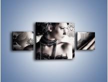 Obraz na płótnie – Czarny kobiecy charakter – trzyczęściowy L095W4