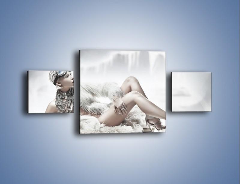 Obraz na płótnie – Biel i jego bogactwo – trzyczęściowy L100W4