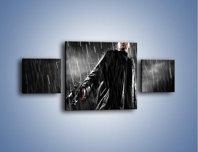 Obraz na płótnie – Brutalny męski świat – trzyczęściowy L105W4