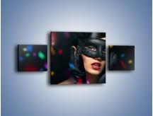 Obraz na płótnie – Bal w czarnych maskach – trzyczęściowy L177W4