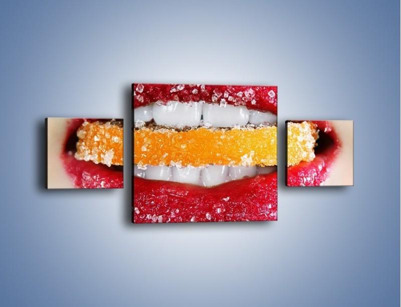 Obraz na płótnie – Cytrusy w słodkich ustach – trzyczęściowy L207W4