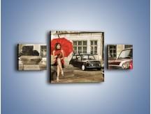 Obraz na płótnie – Damski świat z dodatkiem czerwonego – trzyczęściowy L242W4