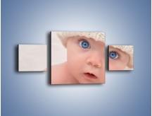 Obraz na płótnie – Błękitne oczy dzidziusia – trzyczęściowy L260W4
