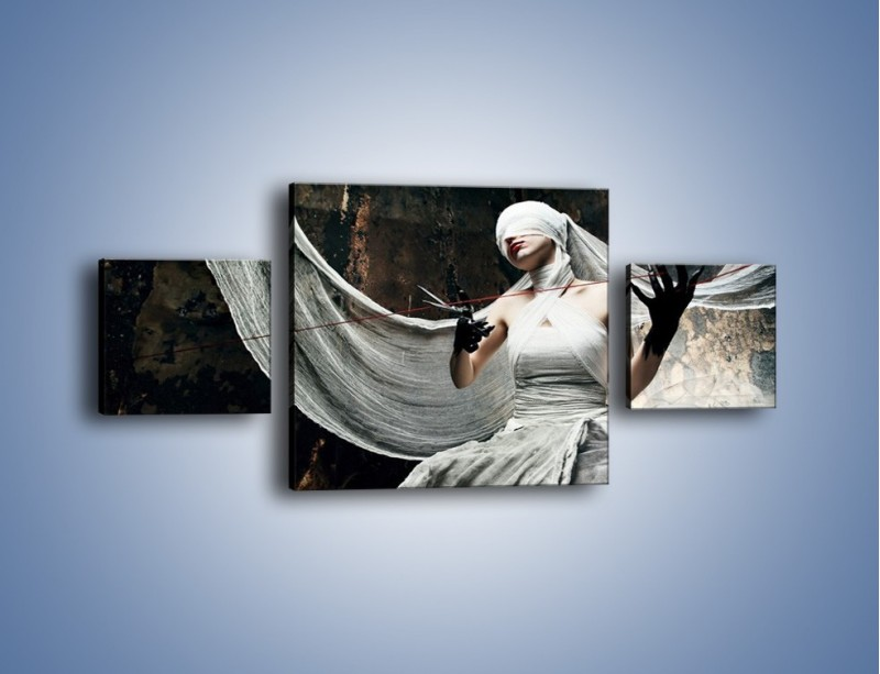 Obraz na płótnie – Dama w białych bandażach – trzyczęściowy L278W4