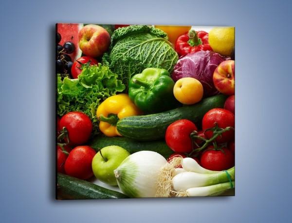 Obraz na płótnie – Mix warzywno-owocowy – jednoczęściowy kwadratowy JN006