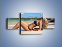 Obraz na płótnie – Czas rajskich plaży – trzyczęściowy L316W4