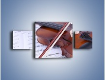 Obraz na płótnie – Melodia grana na skrzypcach – trzyczęściowy O003W4