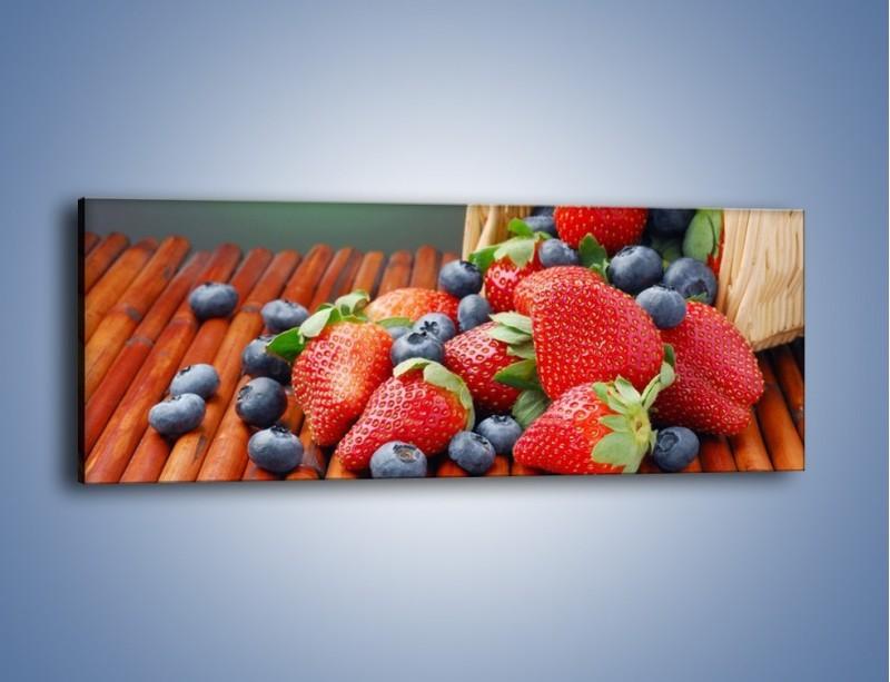 Obraz na płótnie – Truskawkowo-jagodowy obłęd – jednoczęściowy panoramiczny JN251
