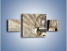 Obraz na płótnie – Głos w srebrnym mikrofonie – trzyczęściowy O026W4