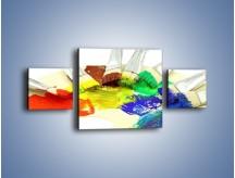 Obraz na płótnie – Kolory pędzlem malowane – trzyczęściowy O046W4