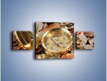 Obraz na płótnie – Kompas zatopiony w monetach – trzyczęściowy O089W4