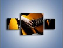 Obraz na płótnie – Chłopiec z gitarą – trzyczęściowy O109W4