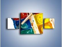 Obraz na płótnie – Kolorowy świat malowany farbami – trzyczęściowy O116W4