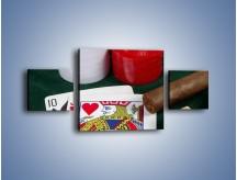 Obraz na płótnie – Męski świat hazardu – trzyczęściowy O121W4