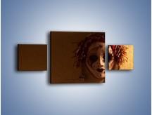 Obraz na płótnie – Maska ze znaczącymi szczegółami – trzyczęściowy O161W4