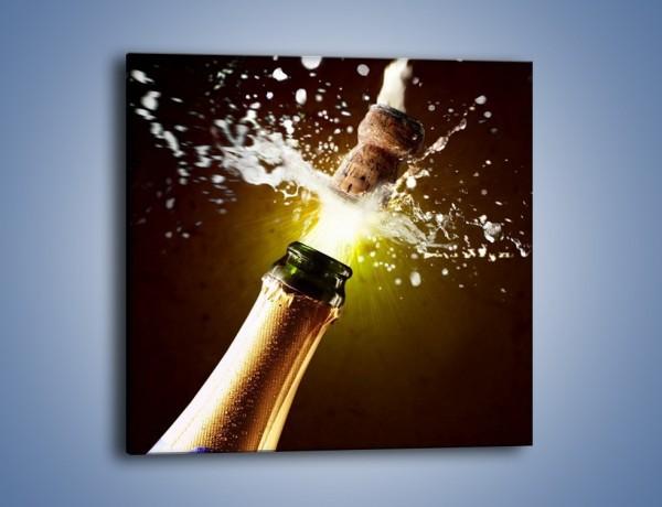 Obraz na płótnie – Wystrzał korka od szampana – jednoczęściowy kwadratowy JN008