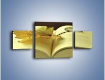 Obraz na płótnie – Liść na ciekawej powieści – trzyczęściowy O163W4