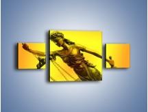 Obraz na płótnie – Figurka ważna w świecie prawa – trzyczęściowy O164W4