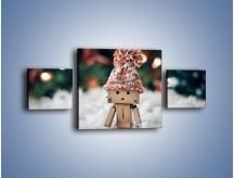 Obraz na płótnie – Mały ludek zimową porą – trzyczęściowy O166W4