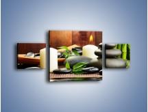 Obraz na płótnie – Masaż przy świecach – trzyczęściowy O176W4