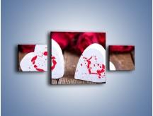 Obraz na płótnie – Dwa idealnie pasujące serca – trzyczęściowy O211W4