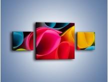 Obraz na płótnie – Kolorowe rulony – trzyczęściowy O217W4