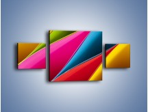 Obraz na płótnie – Idealna kolorowa kompozycja – trzyczęściowy O219W4