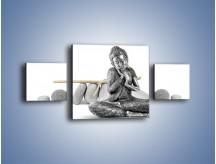 Obraz na płótnie – Budda wśród szarości – trzyczęściowy O220W4