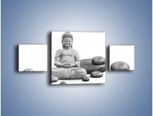 Obraz na płótnie – Budda wśród kamieni – trzyczęściowy O229W4
