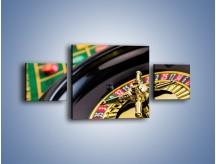 Obraz na płótnie – Czas drogocenny w kasynie – trzyczęściowy O238W4