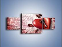 Obraz na płótnie – Klucz do serca – trzyczęściowy O246W4