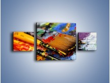 Obraz na płótnie – Kolory ze sobą zmieszane – trzyczęściowy O251W4