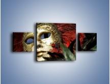 Obraz na płótnie – Maska pełna tajemnicy – trzyczęściowy O252W4