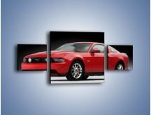 Obraz na płótnie – Czerwony Ford Mustang GT – trzyczęściowy TM052W4