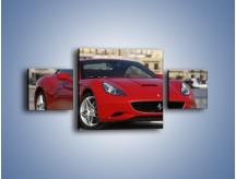 Obraz na płótnie – Czerwone Ferrari California – trzyczęściowy TM057W4