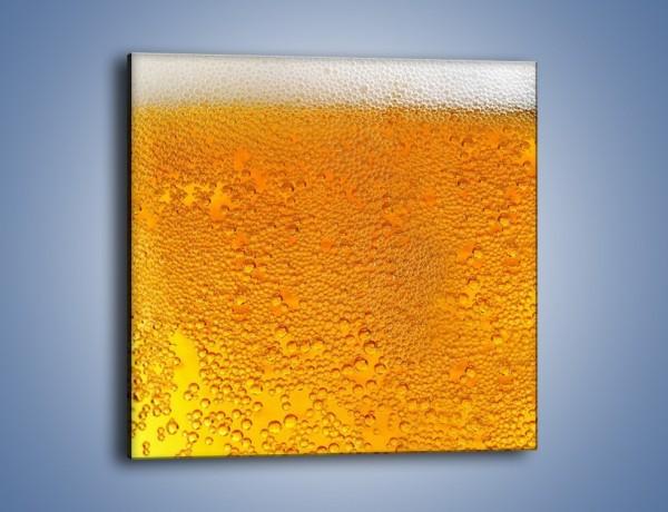 Obraz na płótnie – Orzeźwiające piwo z pianą na dwa palce – jednoczęściowy kwadratowy JN011