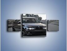 Obraz na płótnie – Czarne BMW E39 M5 – trzyczęściowy TM072W4