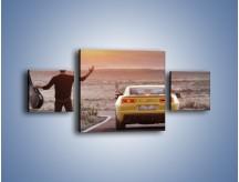 Obraz na płótnie – Chevrolet Camaro na pustynnej drodze – trzyczęściowy TM080W4